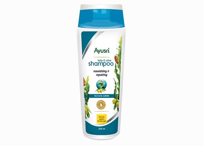 Аюрведический-Шампунь-для-волос-восстановление-и-питание-Аюшри-с-ламинарией-оливкой-и-миндалем-200мл
