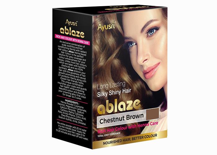 Каштановая-хна-для-волос-Аюшри-6-пакетиков-по-10г