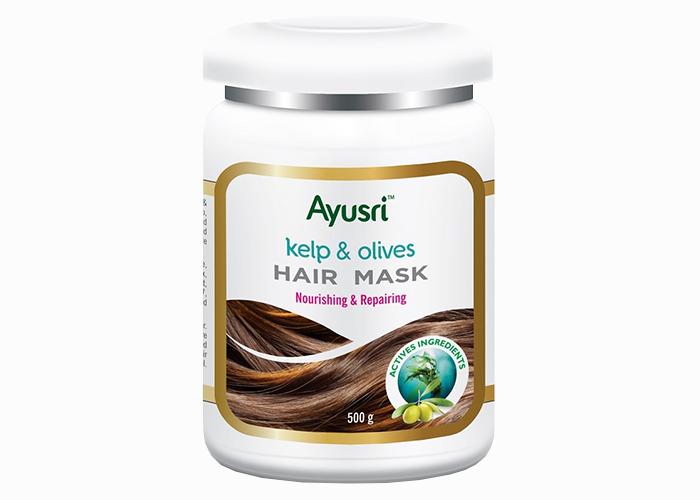 Маска-аюрведическая-для-волос-с-ламинарией-и-оливой-Аюшри- восстанавливающая-500гр