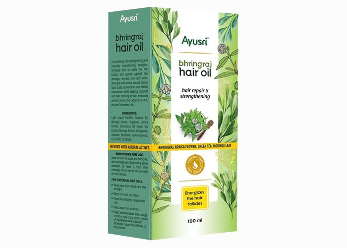 Масло-аюрведическое-для-восстановления и укрепления-волос-Бринградж-Аюшри-100мл